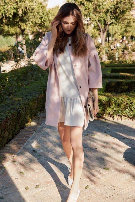 Kampania TOP SECRET wiosna 2017 spring 2017 ss17 pale pink coat pastelowy płaszcz różowy romantic look