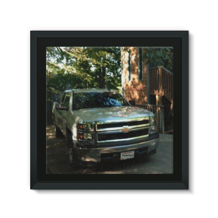 Chevy Silverado Framed Canvas