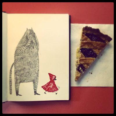 Lupo piange Cappuccetto portò via tutto, e si mangiò anche la torta