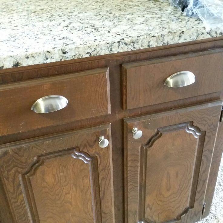 new nickel door knobs and drawer pools