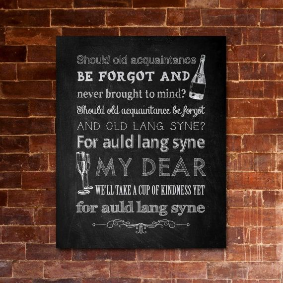 """What Does """"Auld Lang Syne"""" Really Mean? 