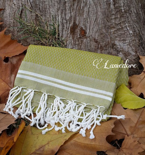 Bamboo Peshtemal towel Traditional Turkish Peshtemal by LAMEDORE