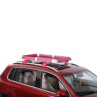 136.5x91x15.5cm Quick Mounting 100Kg Loading Aluminum Roof Luggage Carrier