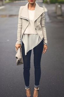 Chic Solid Color PU Leather Long Sleeves Jacket