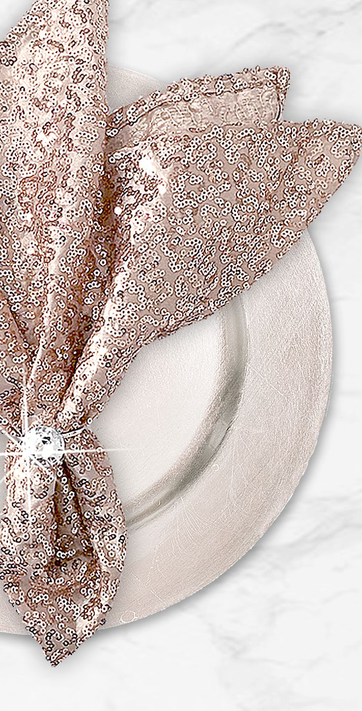 Stunning pink sequins napkins // Composition Lane