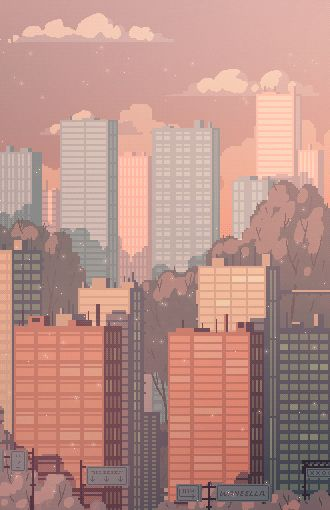 Pixel Cities by Waneella