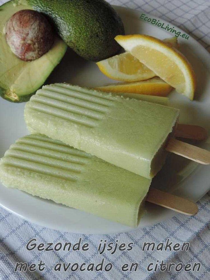 Lekkere en Gezonde ijsjes zelf maken met avocado en citroen