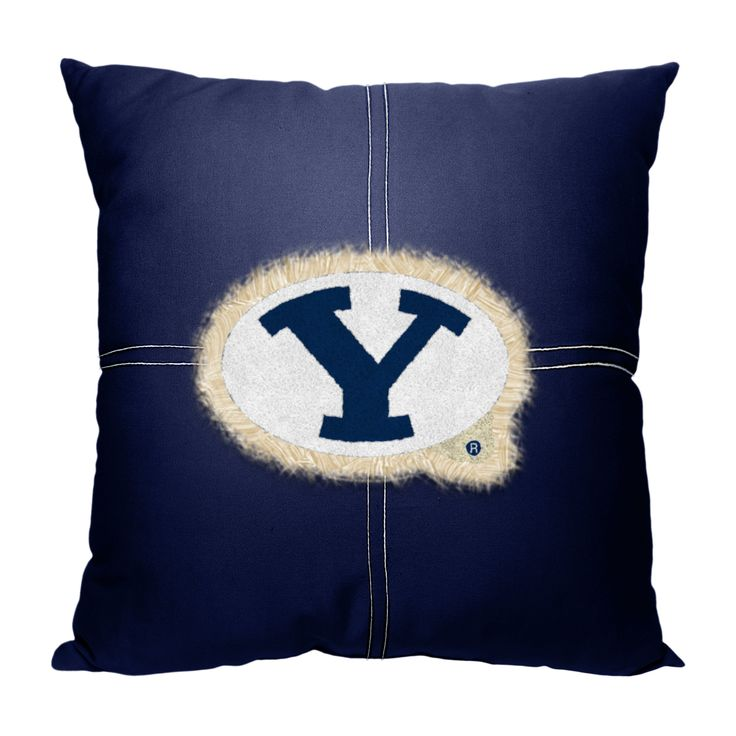"BYU College 18""""x18"""" Letterman Pillow"