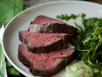 Slow Roasted Filet Of Beef And Basil Parmesan Mayonnaise