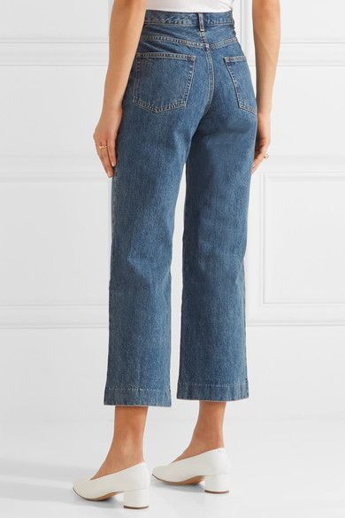 A.P.C. Atelier de Production et de Création - Sailor Cropped High-rise Wide-leg Jeans - Blue -