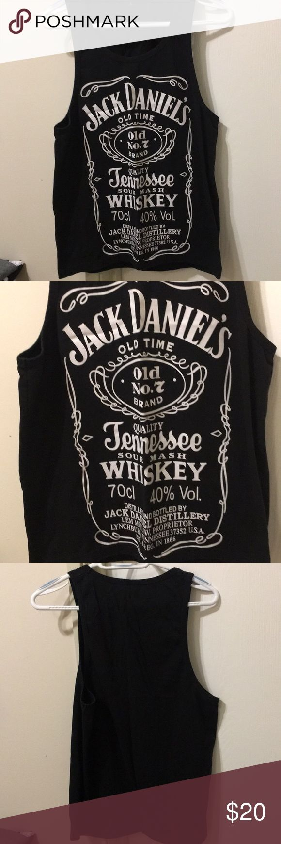 Jack Daniels tank top Jack Daniel's tank top, like brand new, only worn twice! Tops Tank Tops