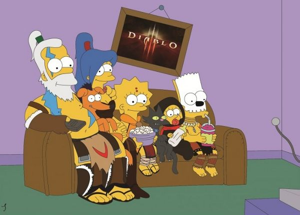 The Simpsons as Diablo 3 characters | Geek Style GuideGames, Cant Wait, Videos Gam, Diablo Simpsons, The Simpsons, Style Guide, Diablo Iii, Fans Art, Gamer Gurl