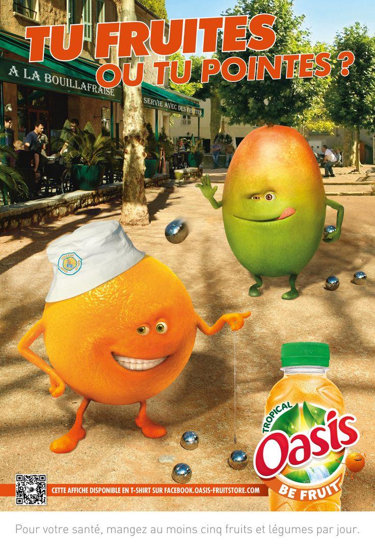 Tu fruites ou tu pointes ? #TeamOasisSudEst