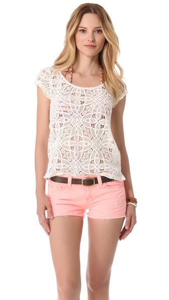 BB Dakota Omni Crochet Top.