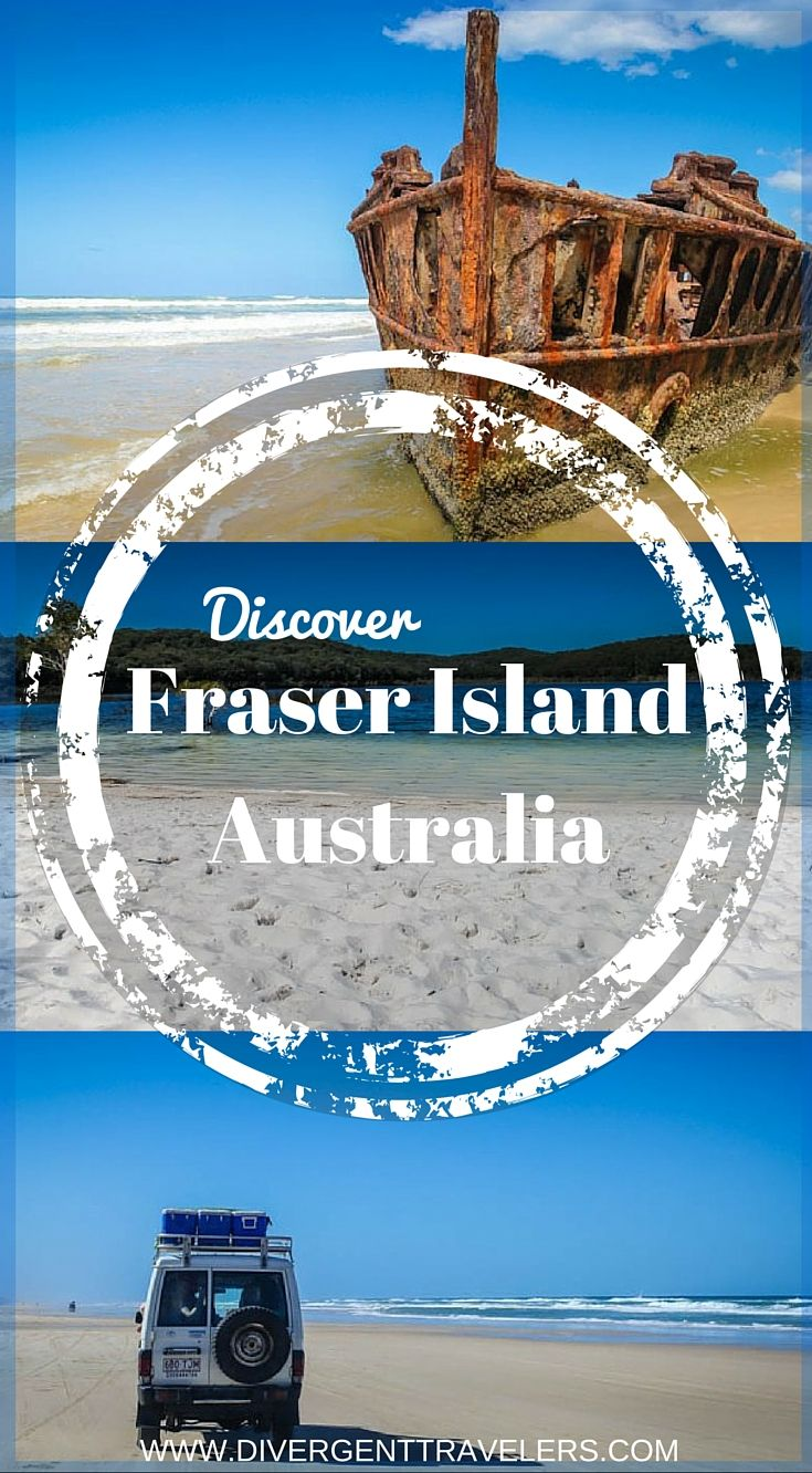 Discover Fraser Island Australia. Of all the places I've been to in the World, I have never come across a place that is as unique as Fraser Island. This island will blow your mind and it certainly did ours. The island itself is World Heritage listed and boasts the title of the World's largest sand island. Click to read the full adventure travel blog post at  http://www.divergenttravelers.com/blown-away-by-unique-beauty-on-fraser-island/