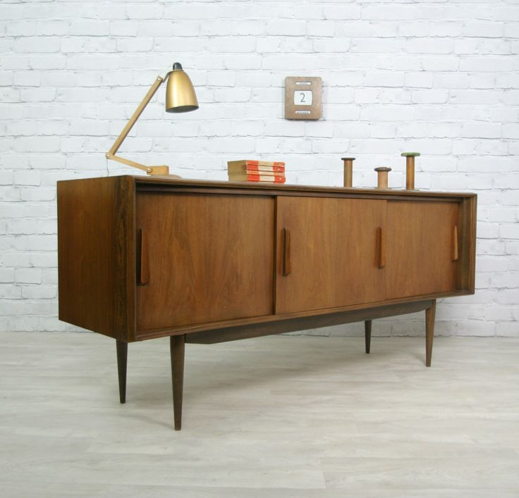 Retro vintage teak mid century danish style sideboard tv for Furniture 60s style