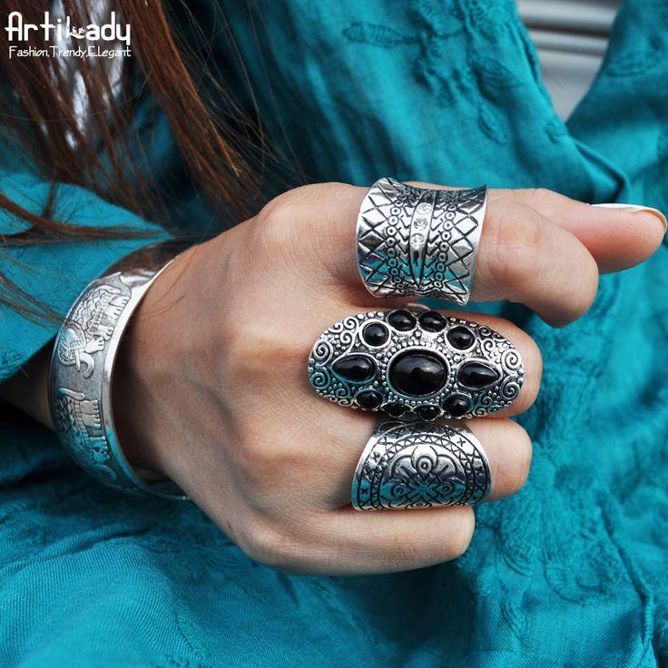Artilady 3 unids set boho bohemia antic de anillos de joyería de moda anillos de plata para las mujeres del partido de la joyería de regalo