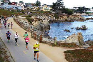 Big Sur Half Marathon. Which is actually run in Monterey! This was an incredibly scenic race. Very well run and great weather too! I would do this race again.