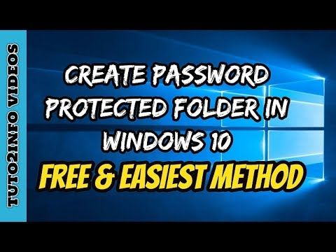 How To Lock A Folder In Windows 10 For FREE   Create Password Protect Fo...