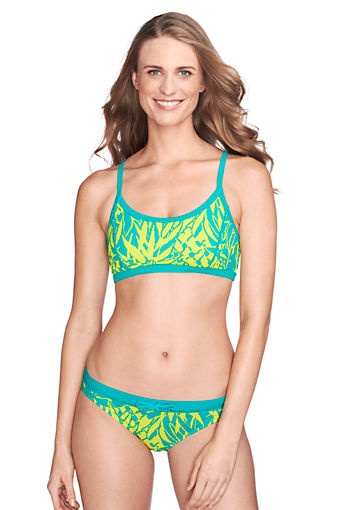 Womens Sunrise Collection Multi-way Floral Bikini Top - 14-16 - Orange Lands End Outlet Best Buy Cheap Top Quality Sale Excellent IsUYy