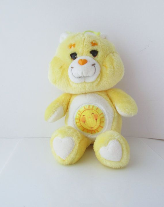 Care Bears Sunshine Bear Plush Toy Stuffed by SaturdayMorningM
