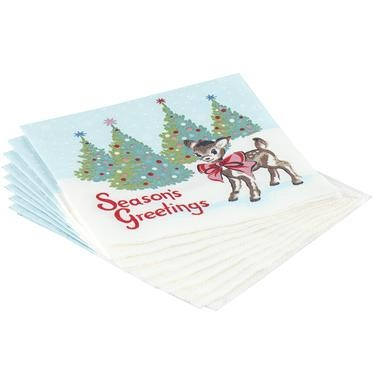 These nostalgic deer print cocktail napkins are just the thing for Christmas parties. £3 Cath Kidston.
