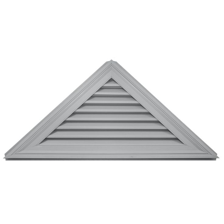 Builders Edge 120141108030 56' x 26' 11/12 Pitch Triangle Vent 030, Paintable >>> Click image for more details.