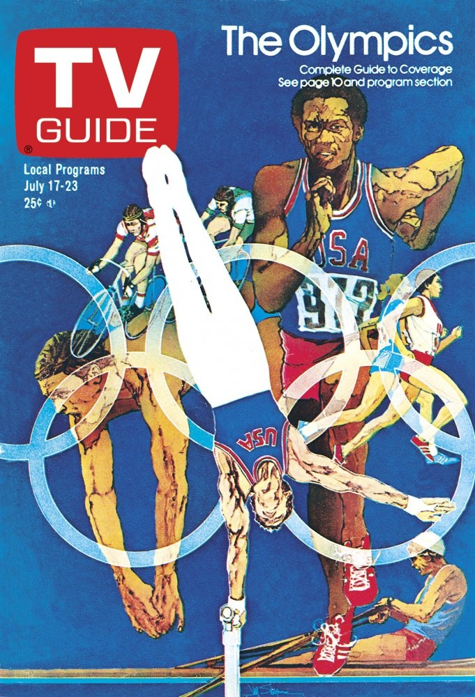 TV Guide cover from July 17, 1976. Montreal Olympics