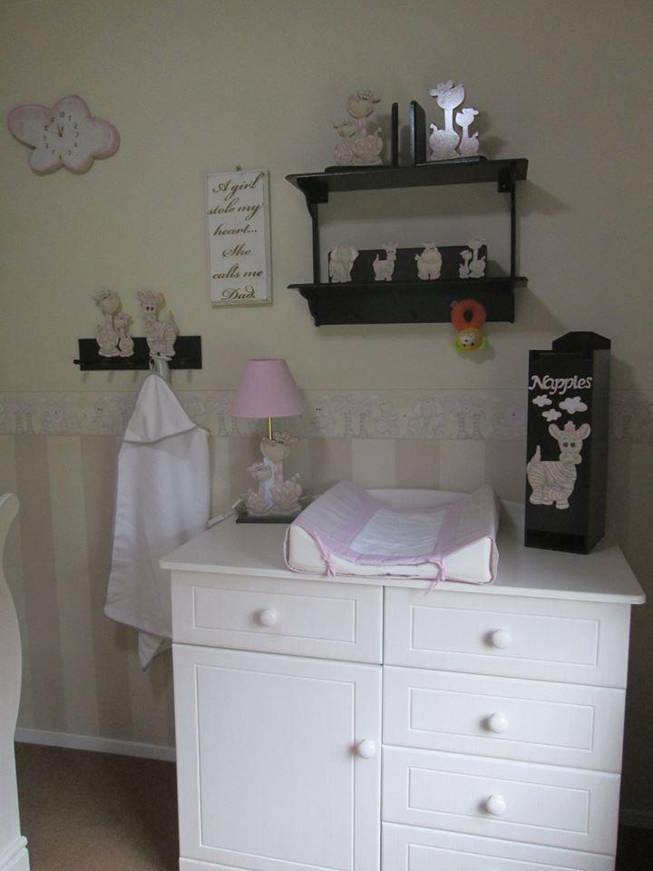 Jungle nursery decor for girls room