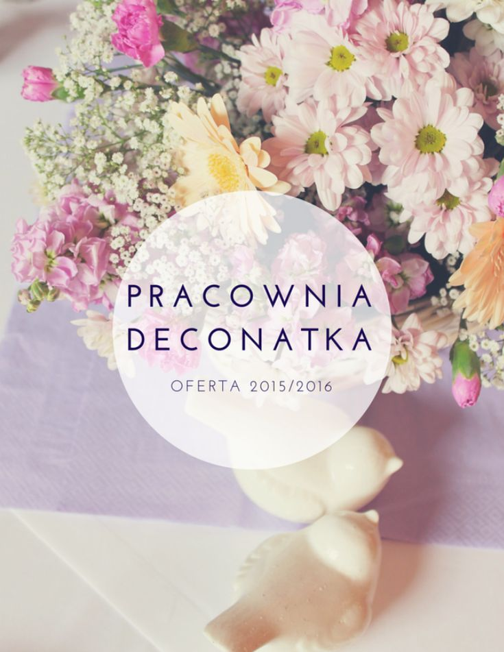 Oferta DECONATKA 2015/2016 Wedding Decoration Decor, magazines, offer