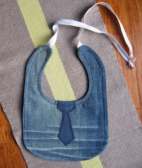 Bibs: Upcycle your jeans into bibs, which are durable and machine-washable. Source: Etsy User GoodDenim