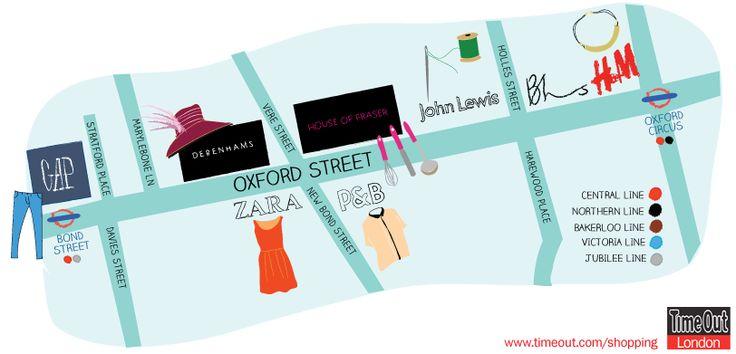 go shopping on Oxford Street area!