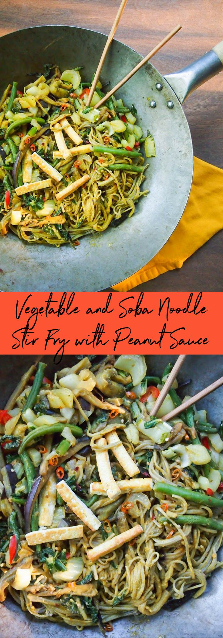 Vegetable and Soba Noodle Stir Fry with Peanut Sauce — Rachael Hartley Nutrition