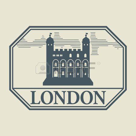 Pieczęć lub etykiety z wyrazem Londynie wewnątrz photo