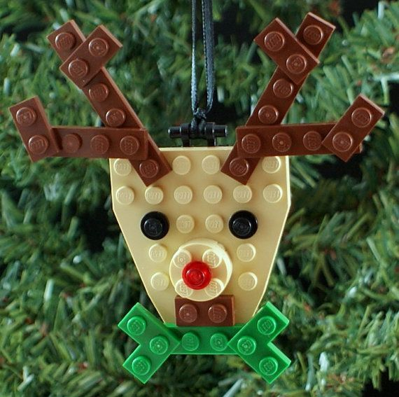 Reindeer kit includes LEGO® elements, building instructions, and a ribbon hanger.    Approximate finished size: 4h x .5l x 4w Ornaments 4