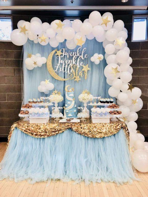 Interesting Baby Shower Decoration Ideas Sfeenks Com In 2020 Moon Baby Shower Twinkle Twinkle Baby Shower Popular Baby Shower Themes