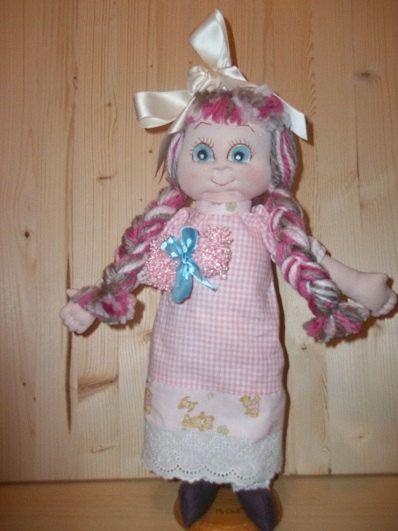 """Soft Sculptured Doll """"Dollie"""" PDF Cloth doll pattern, PDF sewing pattern, soft doll pattern, step by step doll."""