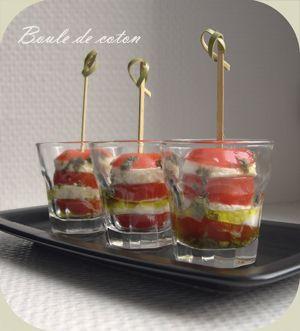 Verrines tomate-mozzarella