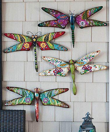 Boho Dragonfly Wall Art Set #zulily #zulilyfinds