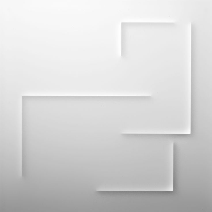 Anne Blanchet CCCXXI, 2011. Plexiglas incisé: 49 x 49 x 2 cm