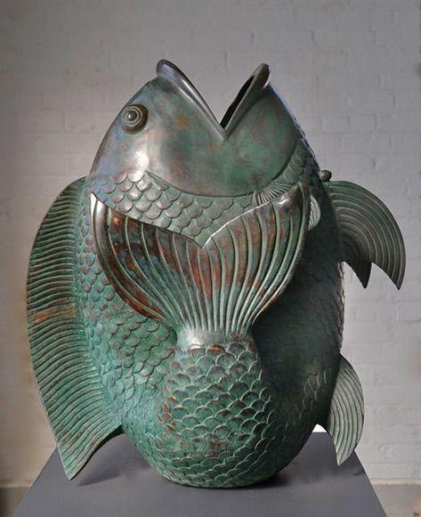 25 best ideas about fish sculpture on pinterest garden for Ceramic fish sculpture