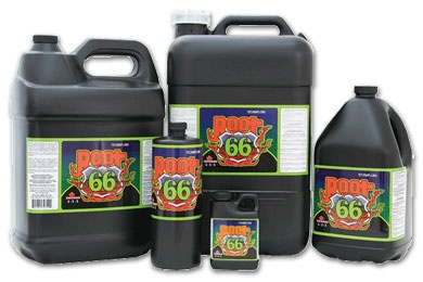 ROOT 66™ is an organic based nutrient blend comprised of seaweed extract, trace elements and disaccharides. The unique composition of ROOT 66™ promotes rapid root growth and the development of a well balanced root structure which is a vital component of overall plant growth and performance. For more information visit www.technaflora.com
