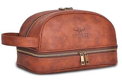 Vetelli Genuine Leather Men Toiletry Bag