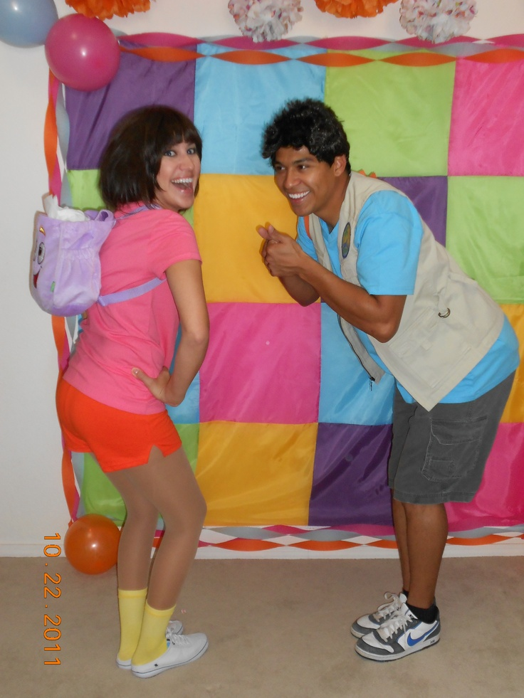 Dora and Diego - awesome costumes, right!? And awesome friends too. =) #costumes #Dora #Diego