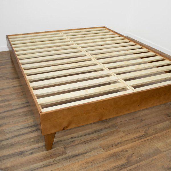 Filey Platform Bed Mid Century Platform Beds Upholstered