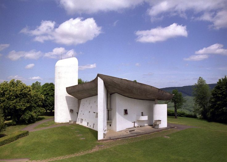 UNESCO adds 17 Le Corbusier projects to World Heritage List, including Notre Dame du Haut chapel, Ronchamp, France, 1950 - 1955