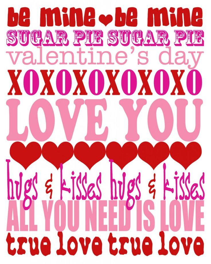 Valentine'sPhotos Templates, Kids Parties, Free Valentine, Subway Art, Valentine Printables, Valentine Subway, Art Xoxo, Printables Kids, Free Printables