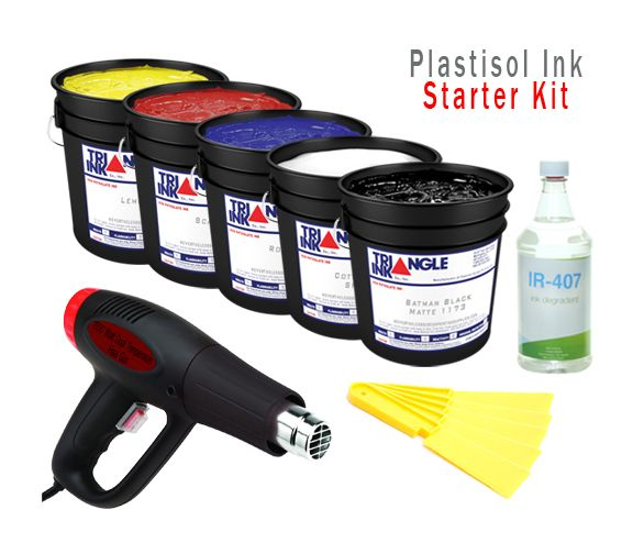 NeverTheLess Screen Printing Supply - Plastisol Ink Starter Kit, $109.99 (http://www.neverthelessscreenprintingsupplies.com/plastisol-ink-starter-kit/)