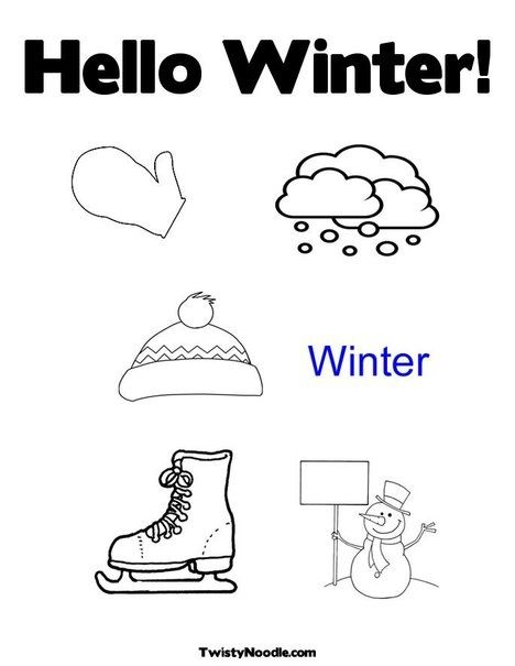 31 best winter images on Pinterest  Coloring pages Winter and
