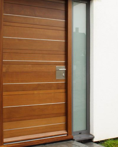 Contemporary Stainless Steel Square Plate Option 1 External Door Handle .. Living the frosted glass panel next to the door